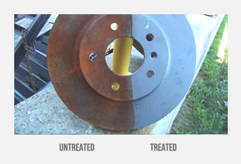 FNC treatment result on a brake rotor